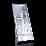 Inox Ensemble de service Thème jardin Thème classique Thème de conte de fées Vintage Theme Stras Nœud papillon blanc 2 Boîtier à cadeau