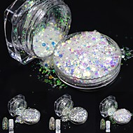 one bottles Nail Art Decoration Rhinestone Pearls make-up Cosmetische Nail Art Design
