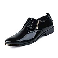 Muškarci Cipele Koža Proljeće Jesen Udobne cipele Oksfordice Hodanje Vezanje za Kauzalni Crn Plava