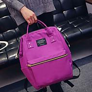 baratos Mochilas-Mulheres Bolsas Tela de pintura mochila para Casual Roxo / Verde / Azul