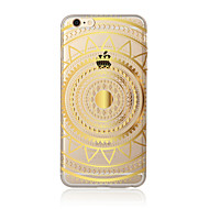 Etui Til Apple iPhone X iPhone 8 Plus iPhone 5 etui iPhone 6 iPhone 7 Gennemsigtig Mønster Bagcover Mandala-mønster Blødt TPU for iPhone