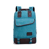 billige Computertasker-Unisex Tasker Lærred / Bomuld / Læder Laptoptaske for udendørs Brun / Blå / Mørkerød