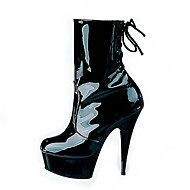 Χαμηλού Κόστους Παπούτσια για κλαμπ-Γυναικεία Παπούτσια Προσαρμοσμένα Υλικά Φθινόπωρο Χειμώνας Παπούτσια club Φωτιζόμενα παπούτσια Μοντέρνες μπότες Μπότες Τακούνι Στιλέτο