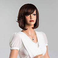 elegantes encantadores bob sedosa perucas capless retas cabelo humano de alta qualidade