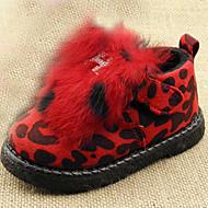 Boty-Kožešina-Pohodlné-Chlapecké-Červená Matná černá-Běžné-Plochá podrážka