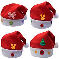クリスマスプレゼントクリスマス帽子の子供の帽子の子段落ステッカークリスマス漫画は子供たちキャップキャップ(スタイルランダム)