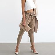 Mulheres Moda de Rua Cintura Alta Delgado Jeans Calças - Sólido