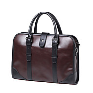 Men Bags PU Tote for Office & Career Brown