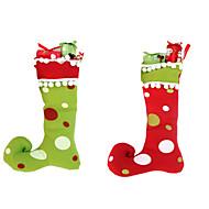 Presentes de Natal ano novo 1pc alegres alta qualidade botas de cano alto de integração decorações meias de Natal Artesanato de Natal