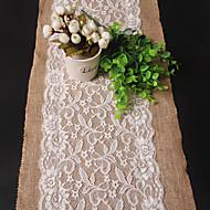 長方形 刺しゅう テーブルランナー , リネン/レーヨン 材料 ウェディングパーティーの装飾 ウェディング
