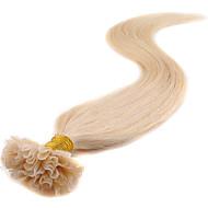 u tip hajhosszabbítás emberi 40g- 50g u-tip Remy emberi póthaj 100 szál keratin köröm tip haj 0,5 g / szál