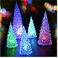 mini-natal 2pcs de Natal Árvore levou luz noturna luz colorida (cor aleatória)