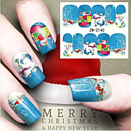 Water Transfer Printing Christmas Element Nail Art Stickers
