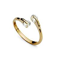 Gyűrűk Esküvő / Parti / Napi Ékszerek Ötvözet / Cirkonium Női KarikagyűrűkÁllítható Aranyozott