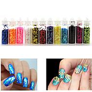 12 Nail Art Dekorace drahokamu Pearls make-up Kosmetické Nail Art design