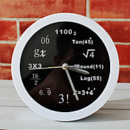 cheap Alarm Clocks-Polytechnic Mathematical Math Equations Desk Clock Desk Alarm Clock Table Clock Creative Home Decorative Fashion Mute Watches