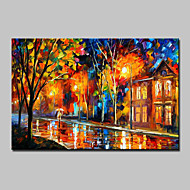 baratos -Pintados à mão Paisagem Horizontal, Modern Tela de pintura Pintura a Óleo Decoração para casa 1 Painel
