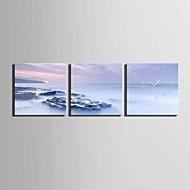 Quadrada Moderno/Contemporâneo Relógio de parede , Outros Tela30 x 30cm(12inchx12inch)x3pcs / 40 x 40cm(16inchx16inch)x3pcs/ 50 x