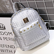 Women Backpack PU Casual Gold White Black Silver Blushing Pink