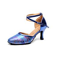 billige Moderne sko-Dame Sko til latindans Lær Sandaler Dyremønster Stiletthæl Kan spesialtilpasses Dansesko Svart / Beige / Blå / Innendørs / Ytelse / Trening / Profesjonell