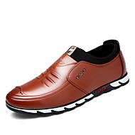 ieftine -Bărbați Pantofi Imitație Piele Primăvară / Toamnă Confortabili Mocasini & Balerini Negru / Maro / Bleumarin / Comfort Loafers