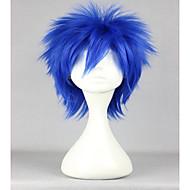 Kostumeparykker / Syntetiske parykker Lige Blåt Dame Lågløs Carnival Paryk / Halloween Paryk / Cosplay Paryk Kort Syntetisk hår
