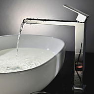 Shower Faucet / Bathtub Faucet / Bathroom Sink Faucet - Contemporary - Waterfall - Brass (Chrome)