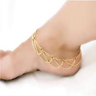 נשים תכשיט לקרסול/צמידים סגסוגת סגנון מינימליסטי ארופאי שכבות מרובות תכשיטים עבור קזו'אל