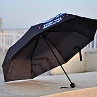 ブラック 折りたたみ傘 サニーと雨 Plastic ストローラー
