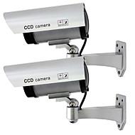 kingneo 2pçs falso exterior / manequim câmera de segurança de vigilância CCTV à prova d'água