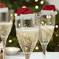 3st rode wijnglas decoratie kaart op kerstdag ontwerp is willekeurig