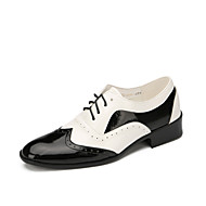 Men's Dance Shoes Leather  Modern Flats Low Heel Outdoor / Performance Black Customizable