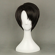 Anime Levi Ackerman from Attack on Titan  Brown  Cosplay Wigs 35cm Short Straight Costume Party  Wig