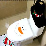 Christmas Decorations Toilet Set Of Christmas Originality Three-Piece Toilet  The Snowman With