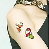 cheap Temporary Tattoos-Tattoo Stickers Animal Series Totem Series Cartoon Series Non Toxic Pattern Lower Back Waterproof ChristmasBaby Child Women Men TeenFlash
