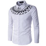 Majica Muškarci,Ležerne prilike Dnevno Geometrijski oblici Dugih rukava Kineski ovratnik Sva doba Pamuk Poliester