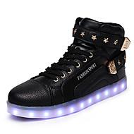 Herren Schuhe Künstliche Mikrofaser Polyurethan Herbst Winter Komfort Neuheit Leuchtende LED-Schuhe Sneakers Schnürsenkel Klettverschluss