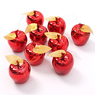 9pce partijbijeenkomsten fruit hanger kerst opknoping ornament rood gouden appels christmas tree decorations