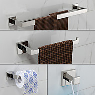 cheap Bathroom Products-Bathroom Accessory Set Contemporary Stainless Steel 4pcs - Hotel bath tower bar Robe Hook Toilet Paper Holders