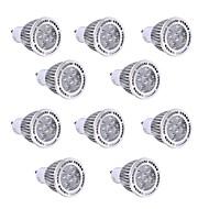 billige Spotlys med LED-10pcs 5W GU10 LED-spotpærer 5 leds SMD 3030 Dekorativ Varm hvit Kjølig hvit 400-500lm 2800-3200/6000-6500