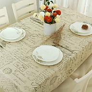 Rectângular Padrão Toalhas de Mesa , Linho/Mistura de Algodão MaterialHotel Mesa de Jantar Banquete de Casamento Jantar Tabela Dceoration