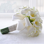 """פרחי חתונה עגול זרים חתונה פוליאסטר סאטן תחרה חרוז אבן ריין 9.45""""(לערך.24ס""""מ)"""