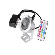 baratos Focos-1pç 10 W Lâmpada Subaquática Impermeável / Controlado remotamente / Regulável RGB 85-265 V / 12 V Iluminação Externa / Piscina / Pátio
