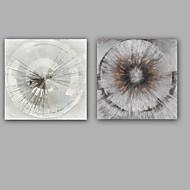 Handgeschilderde Abstract Olie schilderijen,Klassiek / Modern Twee panelen Canvas Hang-geschilderd olieverfschilderij For Huisdecoratie