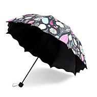 Musta Taitettava sateenvarjo Auringonvarjo Plastic Rattaat