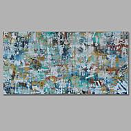 billiga Landskapsmålningar-Hang målad oljemålning HANDMÅLAD - Abstrakt Europeisk Stil Medelhavet Duk