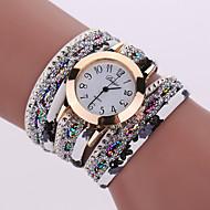Dámské Luxusní hodinky Náramkové hodinky Diamond Watch Křemenný Černá / Bílá / Modrá Cool Analogové dámy Přívěšky Třpyt Vintage Na běžné nošení - Červená Zelená Světle modrá Jeden rok Životnost