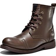 baratos Sapatos de Tamanho Pequeno-Homens Fashion Boots Pele Napa Primavera / Verão / Outono Conforto Botas Preto / Castanho Escuro / Festas & Noite