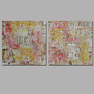 baratos -Pintura a Óleo Pintados à mão - Abstrato Clássico Modern Tela de pintura