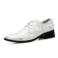 Χαμηλού Κόστους -Ανδρικά Τα επίσημα παπούτσια Μικροΐνα Άνοιξη / Φθινόπωρο Καθημερινό / Ανατομικό Oxfords Περπάτημα Αντιολισθητικό Χρυσό / Μαύρο / Ασημί / Γάμου / Πάρτι & Βραδινή Έξοδος / Δερμάτινα παπούτσια